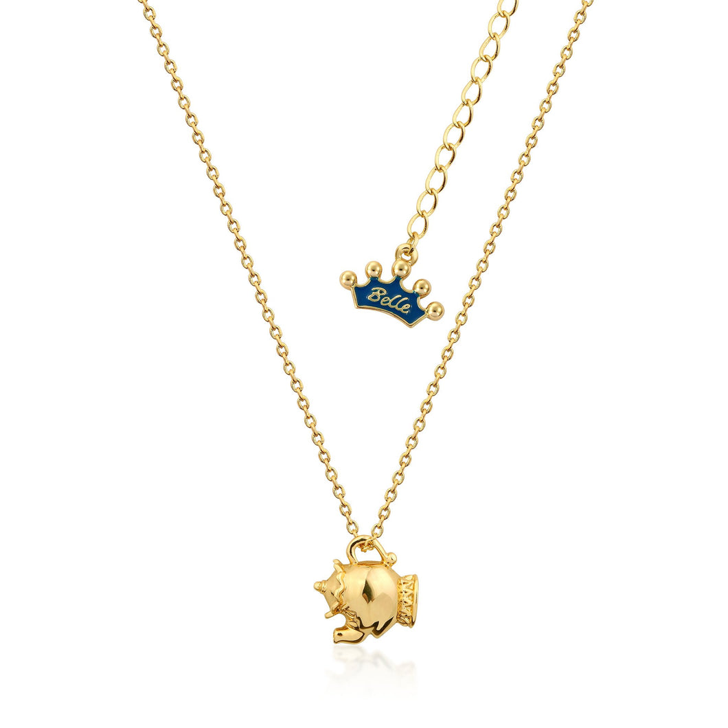 Disney Beauty and the Beast Mrs Potts Necklace Junior