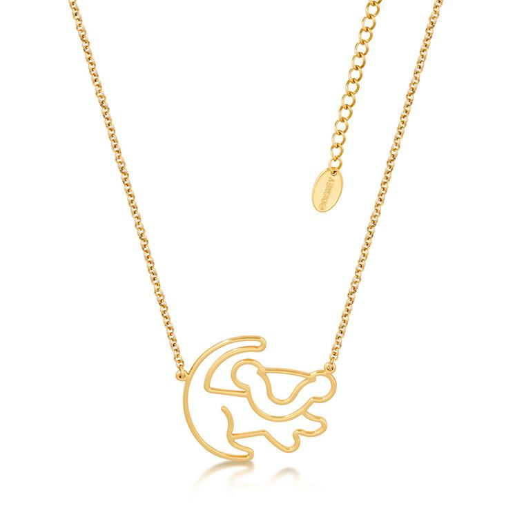 Disney The Lion King Simba Outline Necklace