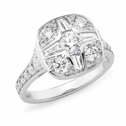 Diamond Shoulder Stone Engagement Ring - 3008-18WD-3