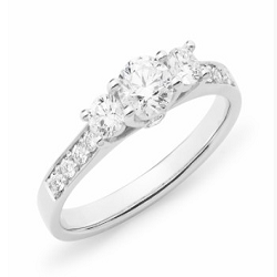Diamond Shoulder Stone Engagement Ring - 3002-18WD-3