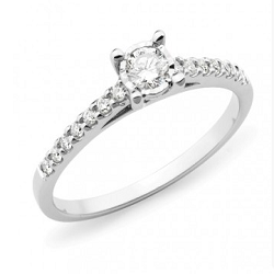 Diamond Shoulder Stone Engagement Ring - 2306-18WD-3
