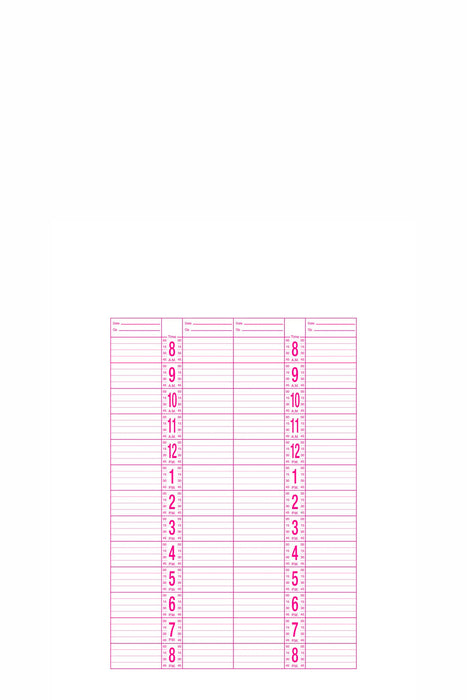 Dateline 4 Column Appointment Book