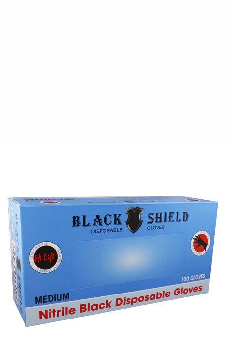 HiLift Black Shield Disposable Gloves 100pk