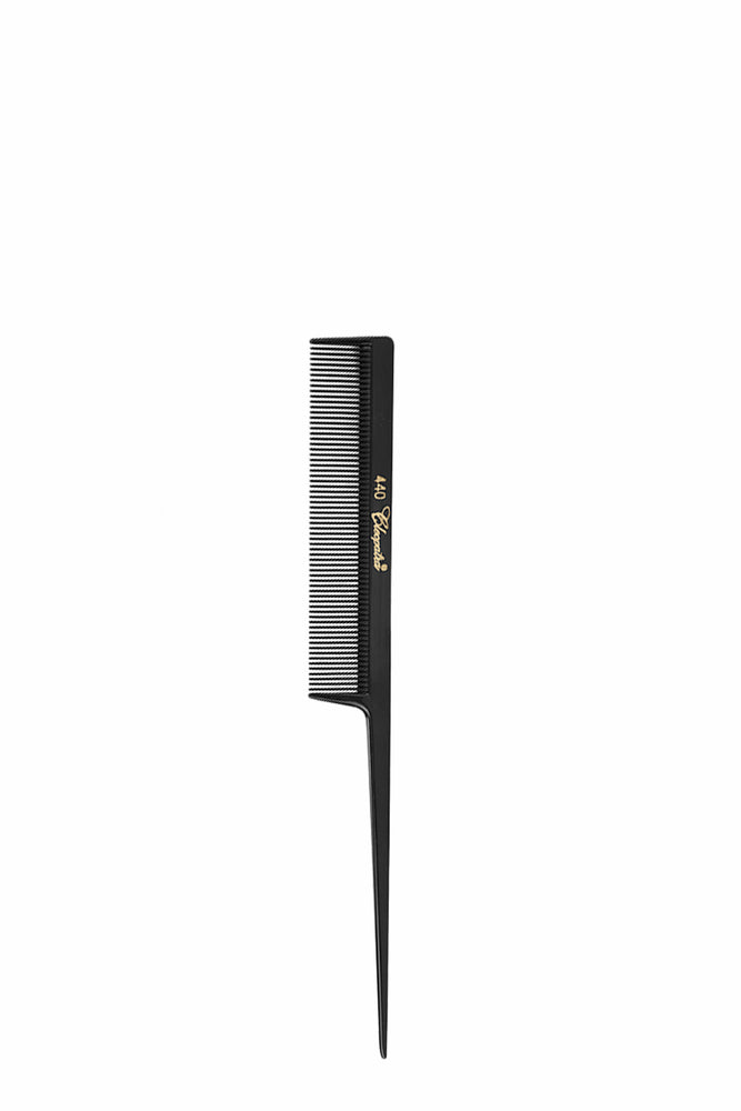 Krest Cleopatra 440 Black Fine Teeth Plastic Tail Comb