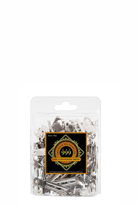 Premium Pin Company 999 Double Prong Curl Clips 100pc