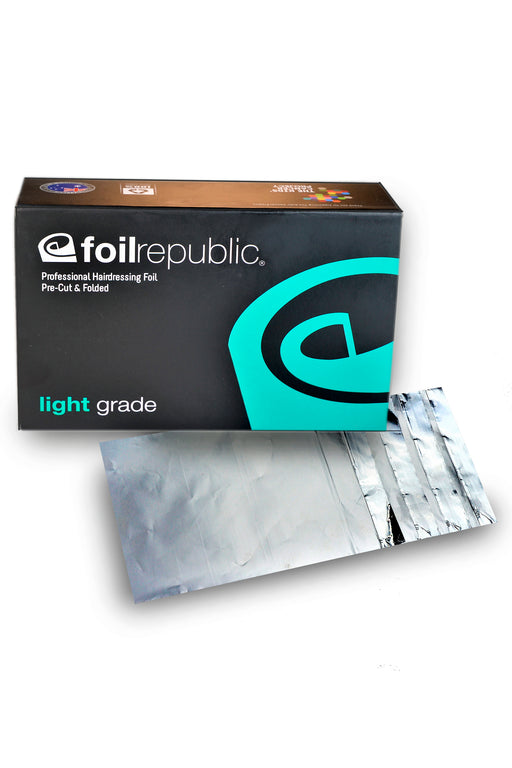 Foil Republic Light Grade Pre-Cut & Folded Hairdressing Foil 12cm x 20cm