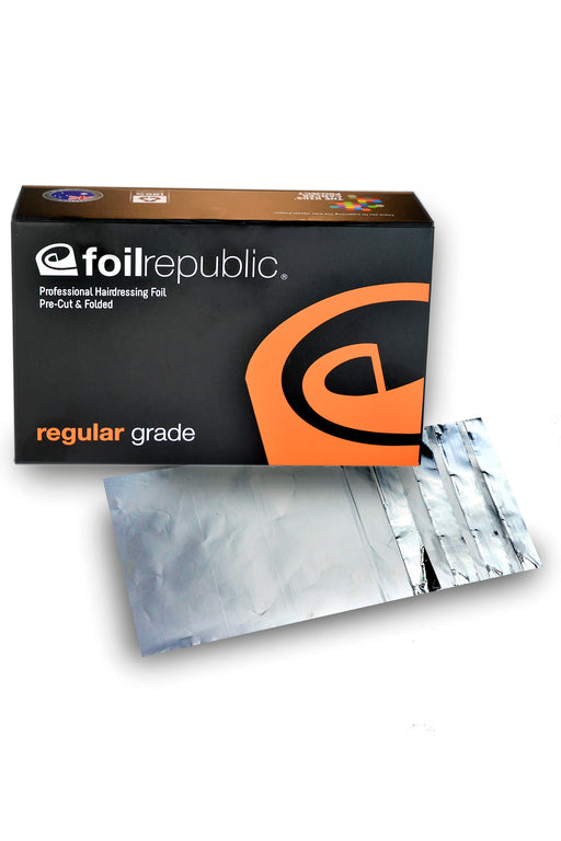Foil Republic Regular Grade Pre-Cut & Folded Hairdressing Foil 12cm x 20cm