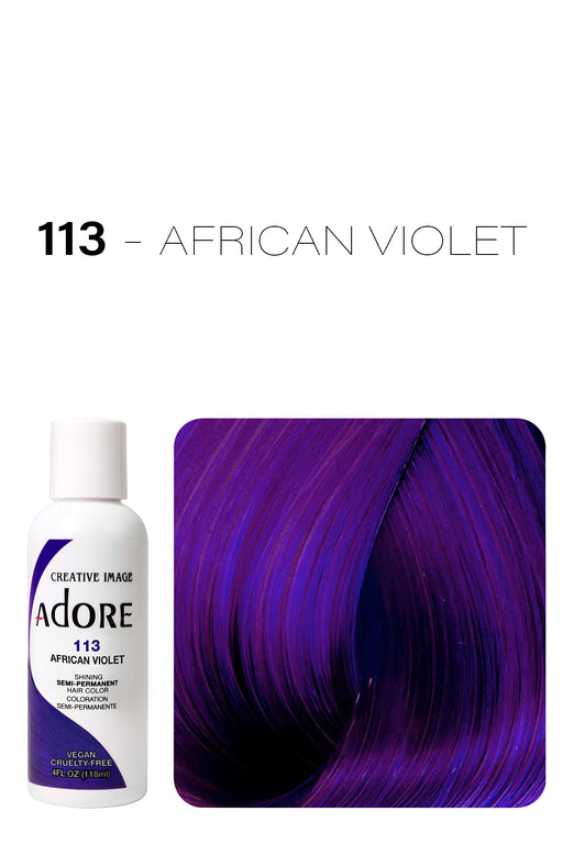 Adore Shining Semi Permanent Hair Colour 118ml - 113 African Violet