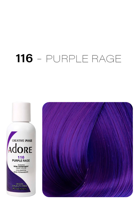 Adore Shining Semi Permanent Hair Colour 118ml - 116 Purple Rage