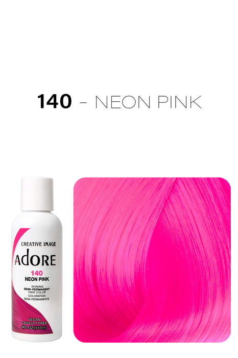 Adore Shining Semi Permanent Hair Colour 118ml - 140 Neon Pink