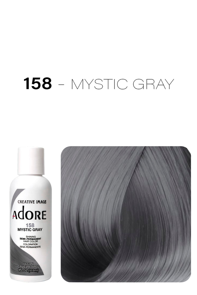 Adore Shining Semi Permanent Hair Colour 118ml - 158 Mystic Gray