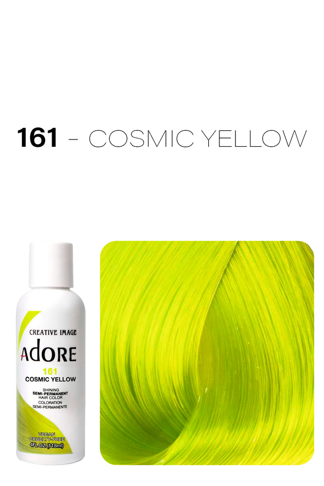 Adore Shining Semi Permanent Hair Colour 118ml - 161 Cosmic Yellow