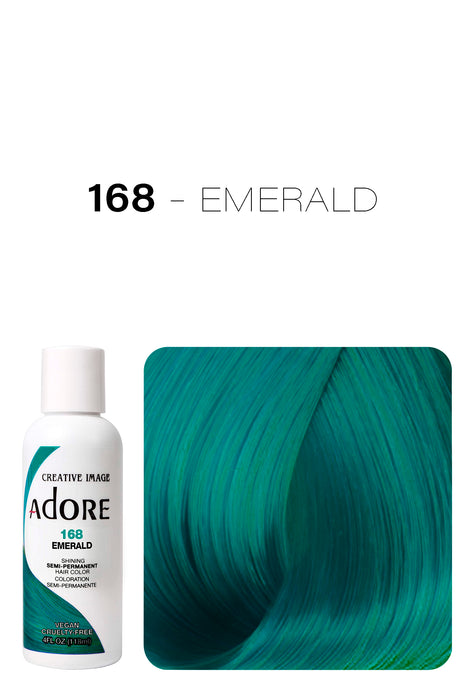 Adore Shining Semi Permanent Hair Colour 118ml - 168 Emerald