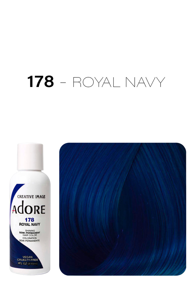 Adore Shining Semi Permanent Hair Colour 118ml - 178 Royal Navy