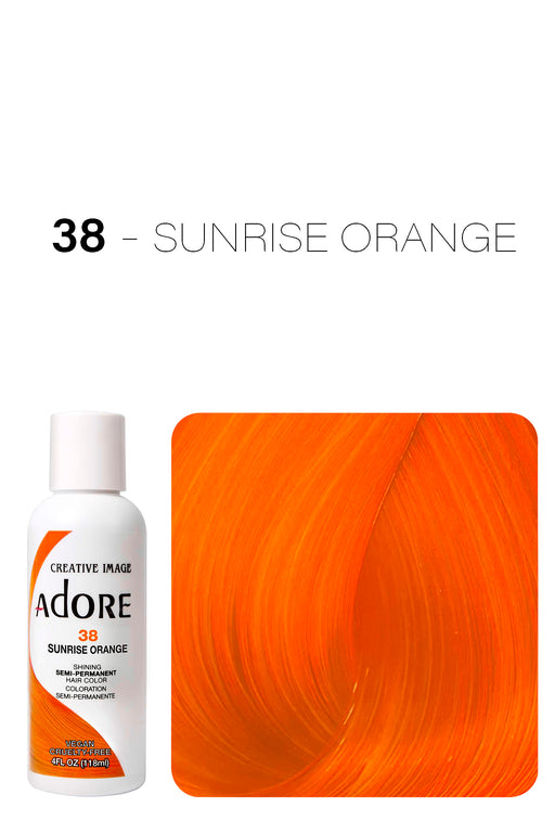 Adore Shining Semi Permanent Hair Colour 118ml - 38 Sunrise Orange