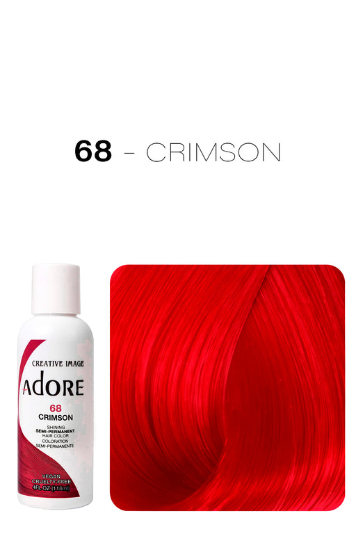 Adore Shining Semi Permanent Hair Colour 118ml - 68 Crimson