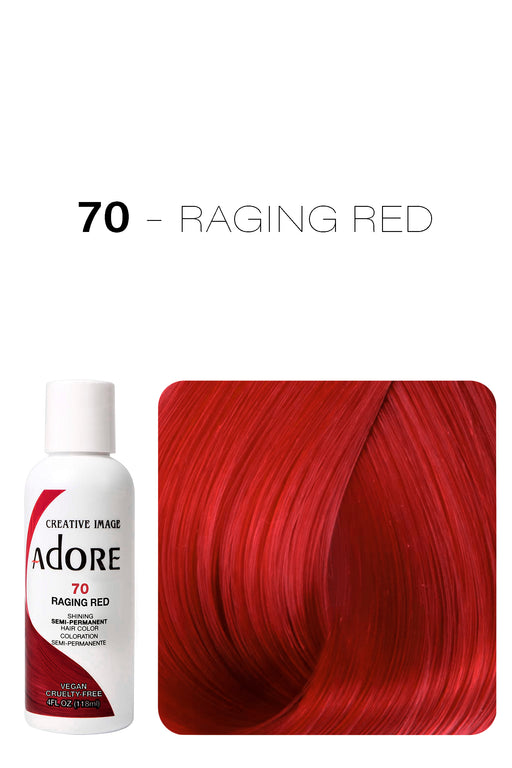 Adore Shining Semi Permanent Hair Colour 118ml - 70 Raging Red