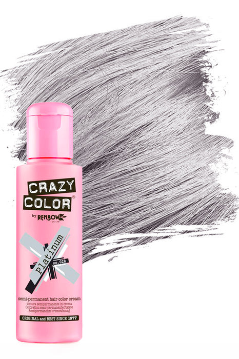 Crazy Colour Semi Permanent Hair Colour Cream 100ml - 28. Platinum