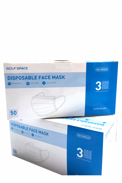 Golf Space Disposable Face Masks 50pc