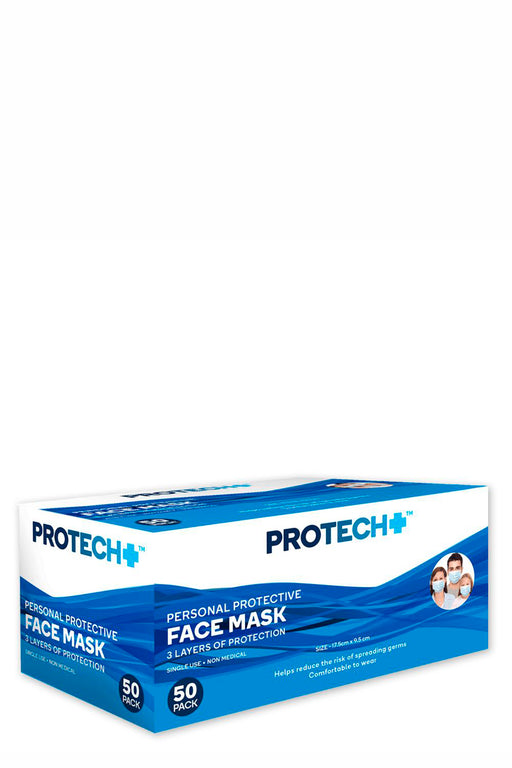 Protech Personal Protective Face Mask 50 piece