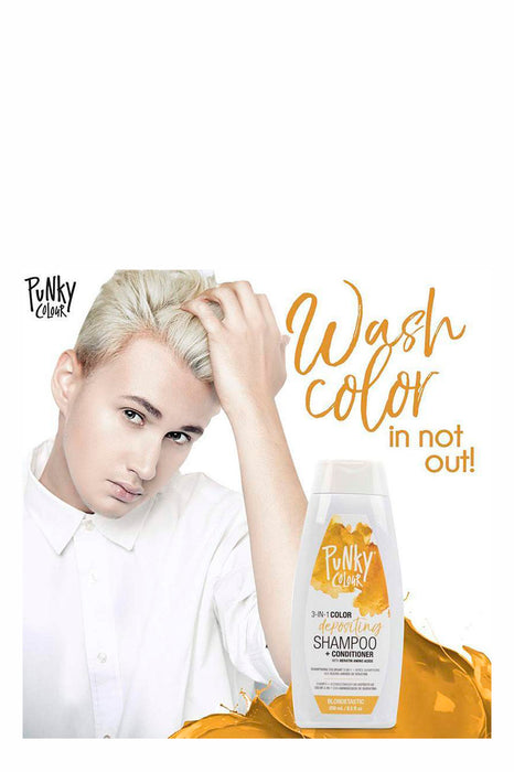 Punky Colour 3-in-1 Colour Depositing Shampoo & Conditioner 250ml - Blondetastic
