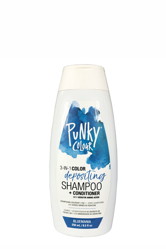 Punky Colour 3-in-1 Colour Depositing Shampoo & Conditioner 250ml - Bluemania