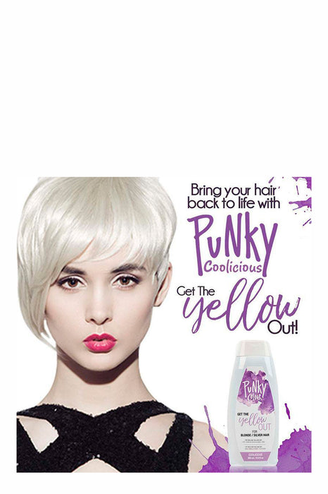 Punky Colour Get the Yellow Out -  Shampoo for Blonde/Silver Hair 250ml - Coolicious