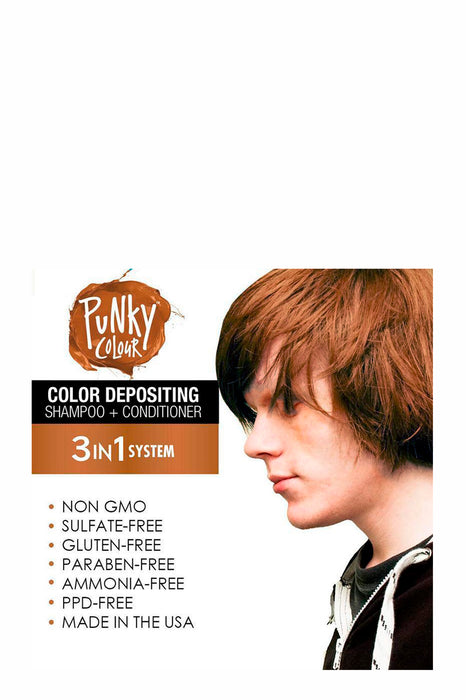 Punky Colour 3-in-1 Colour Depositing Shampoo & Conditioner 250ml - Mochanificent