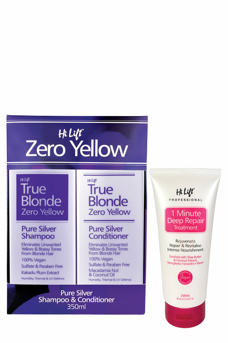 HiLift True Blonde Zero Yellow Trio Pack