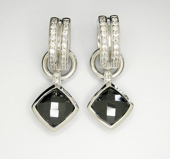 Huggie earrings with CZ