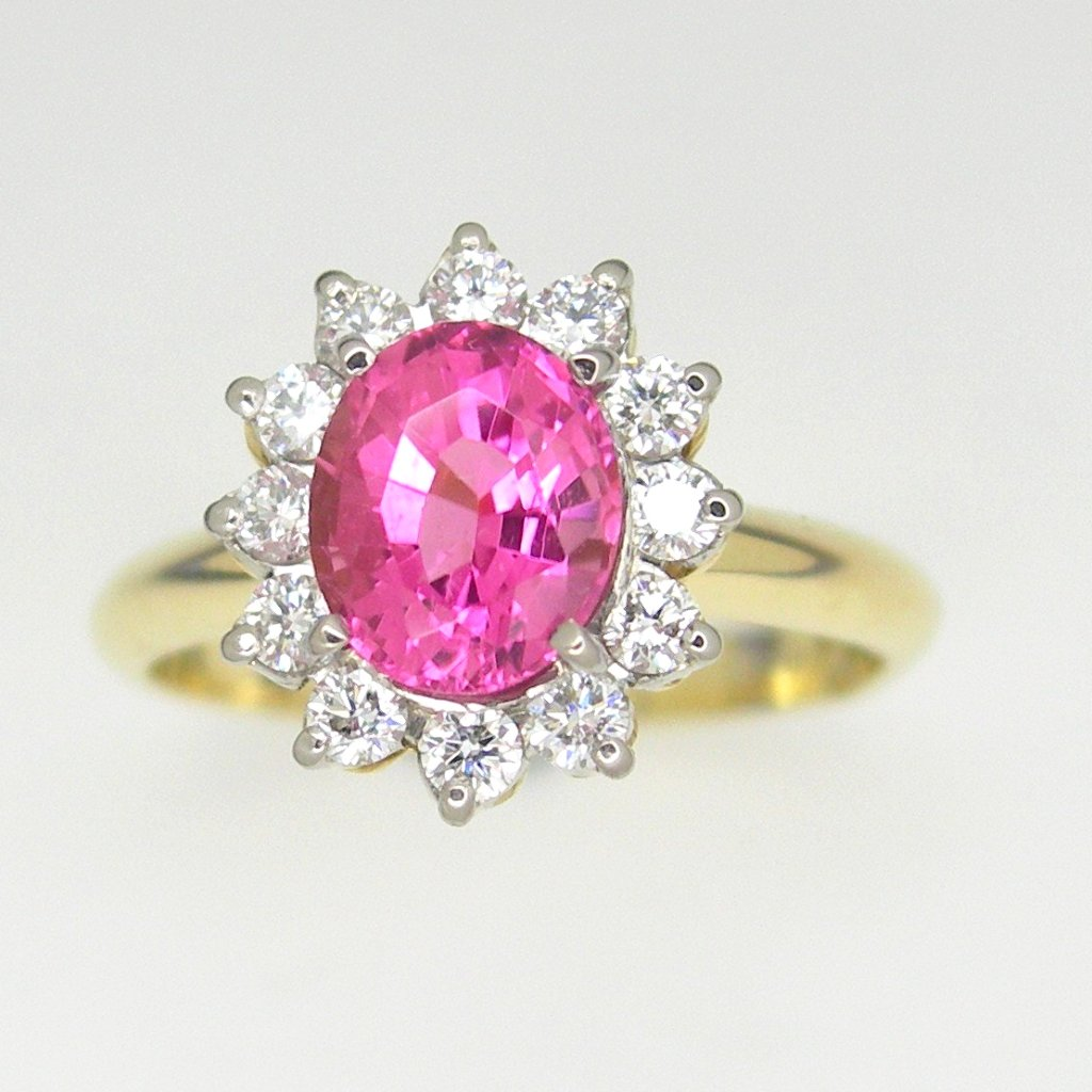 Pink Tourmaline Diamond gold ring – Jiedy Jewels