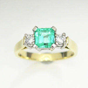 Emerald Trilogy ring
