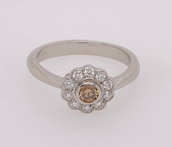 Diamond Platinum Ring.