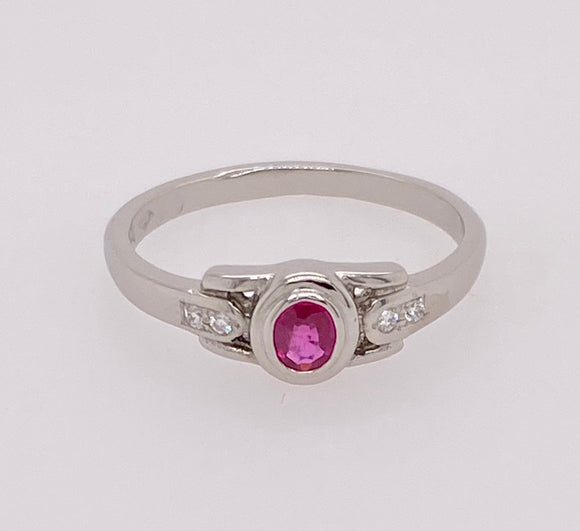 Ruby Platinum Ring