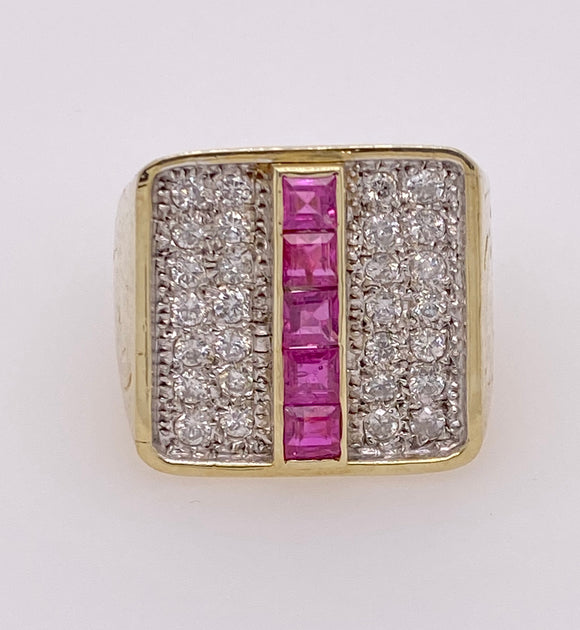 Gent Ruby Gold Ring
