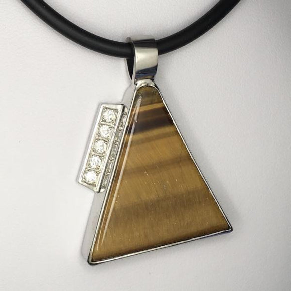 Tiger eye silver pendant (TG03)