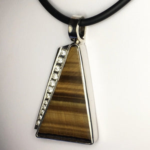 Tiger eye silver pendant (TG01)