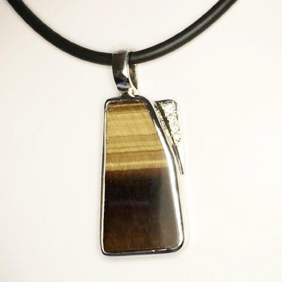 Tiger eye silver pendant (TG02)