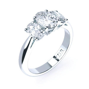 Trilogy oval cut diamond engagement ring TDW180