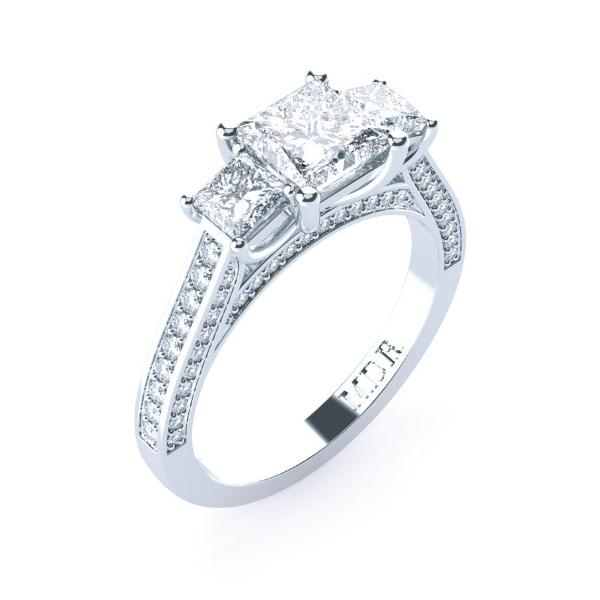 rings diamond ring carat view white solitaire princess gold cut devotion engagement whitegold