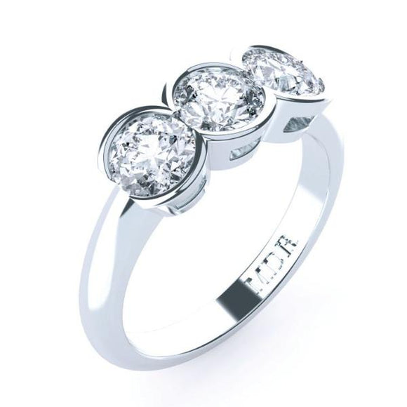 Trilogy round brilliant cut diamond engagement ring TDW150
