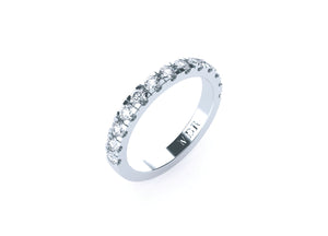 Half circle diamond ring (scallop set)