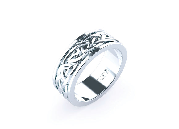 Men's twisted rope design wedding ring