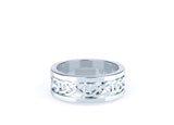 Men's infinity design wedding ring
