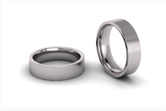 Men's Flat Plain Wedding Ring