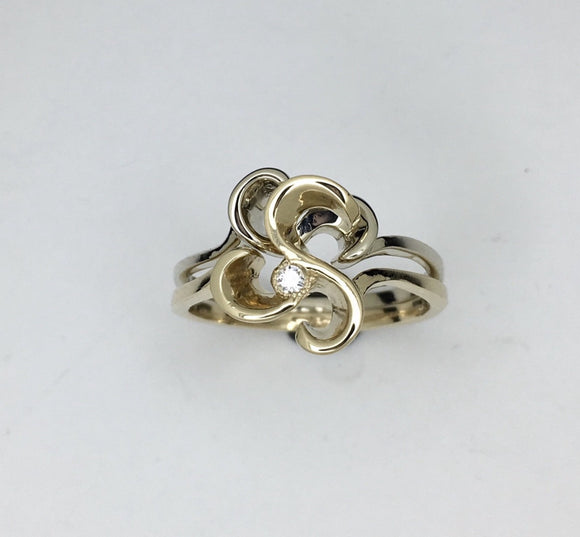 Stackable Floral Diamond Ring