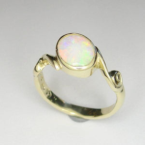 Coober pedy Opal gold ring (0.71ct)