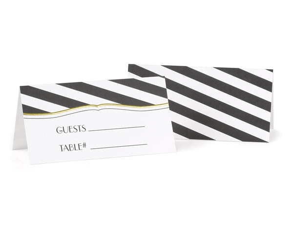 Striped Place Cards (Set of 25)