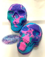 Tie Died Skull Bath Bomb - Watermelon Lemonade
