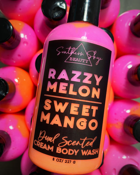 Dual Scented Cream Body Wash - Razzy Melon | Sweet Mango